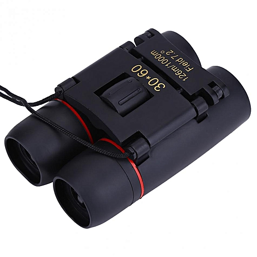 30x60 Portable Metal Binoculars Lightweight Metal Dual Focusing Binoculars  30 Times Mini Binocular For Bird/Star Watching