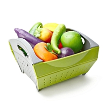 KCASA KC-SR15 Collapsible Foldable Vegetable Filter Basket Strainer Fruit Colander Storage Organizer