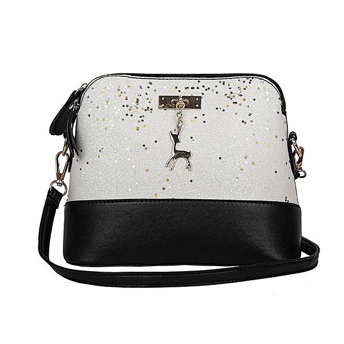 4f29cf04b25 Hot Sale New Fashion Women Leather Deer Splice Shell Shape Bag Mini  Shoulder Crossbody Bags Tote designer handbags high quality(F)