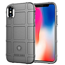 Full Coverage Shockproof TPU Case for iPhone X(Grey)