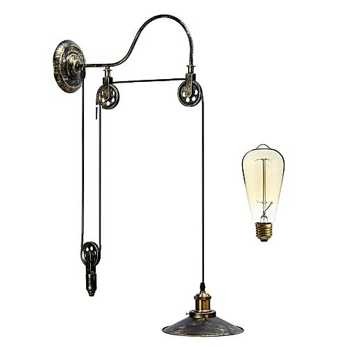 Generic Retro Vintage Pulley Pendant Loft Ceiling Light Hanging Lamp