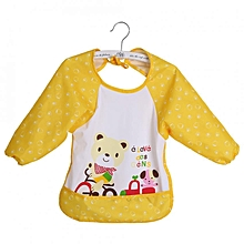 Oversized Infant Toddler Baby Waterproof Long Sleeved Bib For 1-3 Years Old Yellow