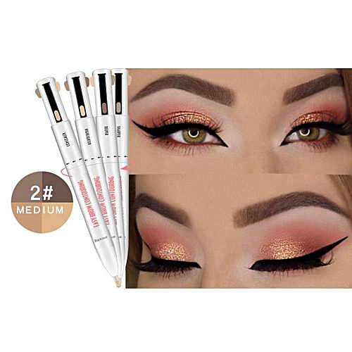 09bbde8fe7d8 Generic 4-in-1 Easy to Wear Eyebrow Contour Natural Long Lasting Paint Pen  Defining Brow Eyebrow Outline Pen Eyebrow Pencil Dye Makeup(B)
