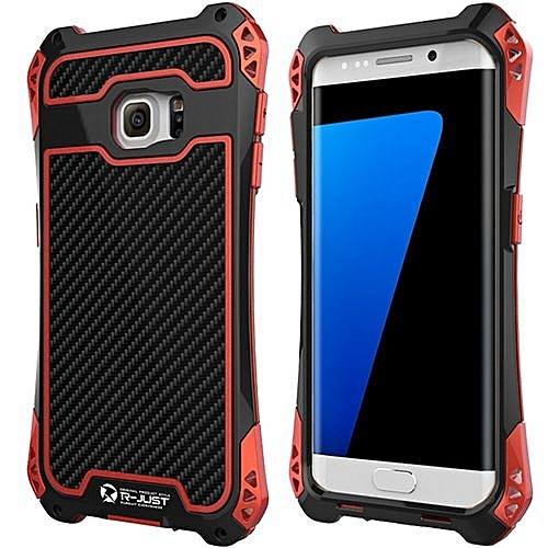 Generic R-Just Metal Aluminum Phone Case For Samsung GALAXY S7  Edge(Black Red)   Best Price  8bd979e2c350