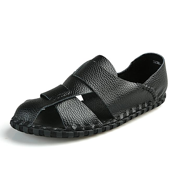 0a95333f7 SocNoDn Men Casual Hiking Summer Fashion Beach Sandals Shoes Black ...