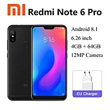 Redmi Note 6 Pro 4G Phablet 6.26 inch 4GB RAM 64GB ROM-Dual Sim- BLACK.