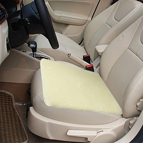 Warm Plush Car Seat Cover Cushion Saddle Size 48cm X 48cmbeige