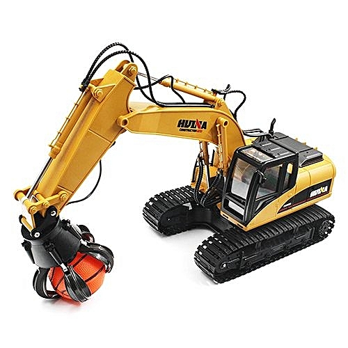 Construction Toy, Alloy Grab Loader Remote Control Toy, Simulate Real RC, 2.4Ghz, 16 Channel, Scale 1:14, HUINA - Deep Yellow Colour