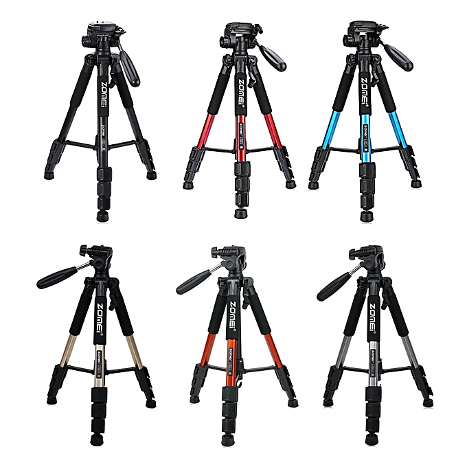 ... Zomei Q111 56 inch Lightweight Aluminum Tripod with Bag RED