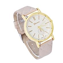 Geneva Fashion Unisex Casual Leather Band Quartz Analog Wrist Watch Watches BG