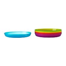 6 Assorted coloured  Plates - IKEA