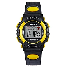 Famous Sport LED Digital Watches Men Fashion Top Brand Wrist Watch Male Electronic Clock Digital-watch(Black&Yellow)