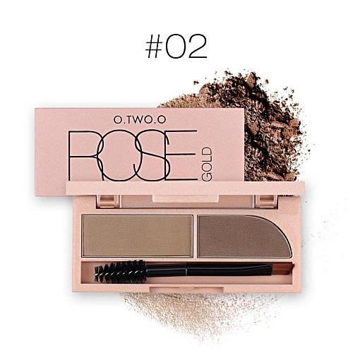 UNIVERSAL 1PC Eyebrow Powder Waterproof Brow Makeup With Brush(#2)