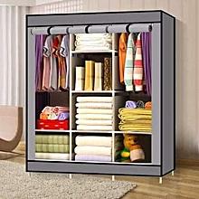 Grey Portable wooden wardrobe
