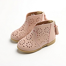 dc12e2a3649fc2 Breathable Toddler Baby Boot Girl Summer Shoes Kid Children Princess Shoes  PK/21-Pink