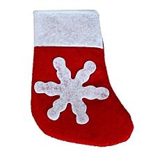 Christmas Cutlery Holder Fork Spoon Pocket Christmas Decor Bag- Red