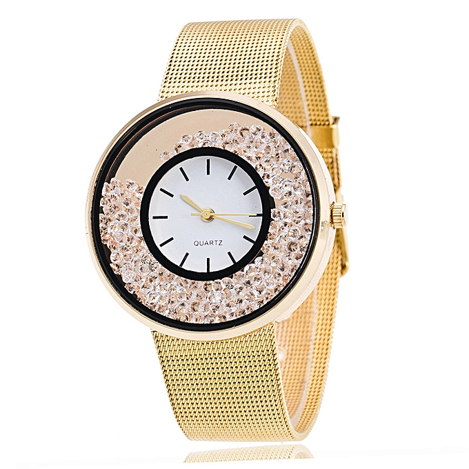 Gorgeous Lover's Quartz Analog Wrist Delicate Alloy Watch Luxury Business Watches Gold
