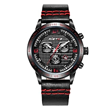 93012 Sports Extreme Fashion Quartz Watch Genuine Leather Men Watches Digital Army Outdoor Man Watches - Red