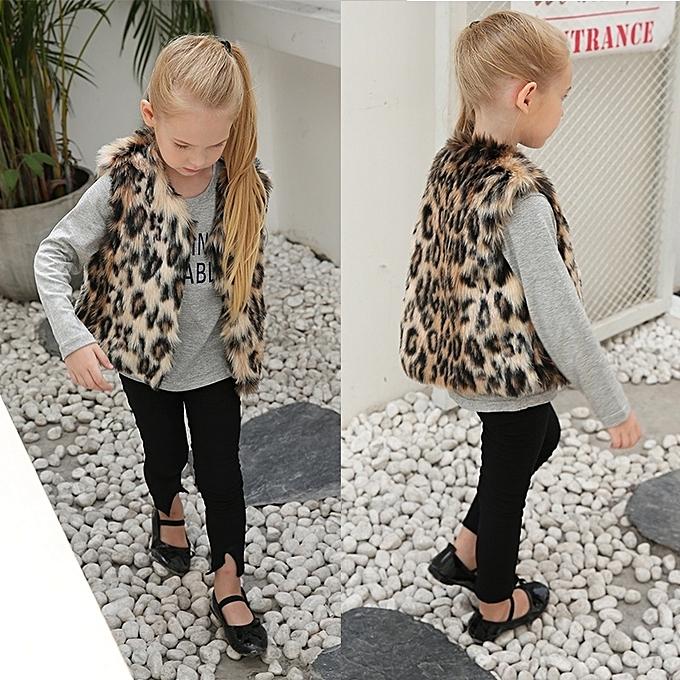 32d454e34 Generic Kids Girls Vests Baby Girl Faux Fur Waistcoat Fashion ...