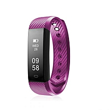 ID115 - Smart Bracelet Android/IOS 45mAh Pedometer - Purple