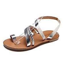 Generic Women Summer Strappy Gladiator Low Flat Heel Flip Flops Beach Sandals Shoes A1
