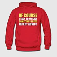 Red Long Sleeved Unisex Hoodie