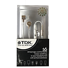 TDK S6 Stereo hands free earphones with mic