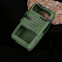 Wearable Walkie Talkie Soft Silicone Holster Cover Case For Baofeng UV-5R