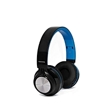 RZE-BT200H - Foldable On-ear Wireless Headphones - Blue & Black