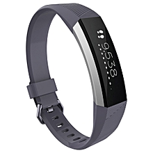 Luxury Silicone Watch Replacement Band Strap For Fitbit Alta HR Wristband GY-Gray