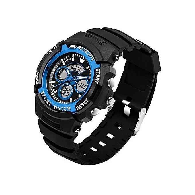 d100c9e42b6 2016 SANDA Mens Sports Watches Digital Luxury Brand Dive 50m Waterproof LED  Men Military Quartz Wristwatches