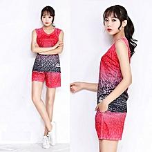 Latest Customized Women Girl's Basketball Training Sports Jersey Uniform Set-Red(1707)