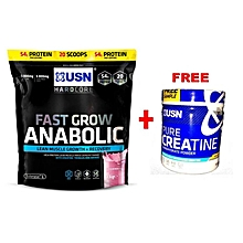 Fast Grow Anabolic - 1kg - Strawberry With Free Creatine 150g