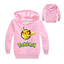 The Explosion  Pokemon The Explosion Lovely Round Neck Long-sleeved Boys And Girls Hooded Sweater Kids Yellow,Red,Black,Blue,100-110-120-130-140 Jsf19432808/e13