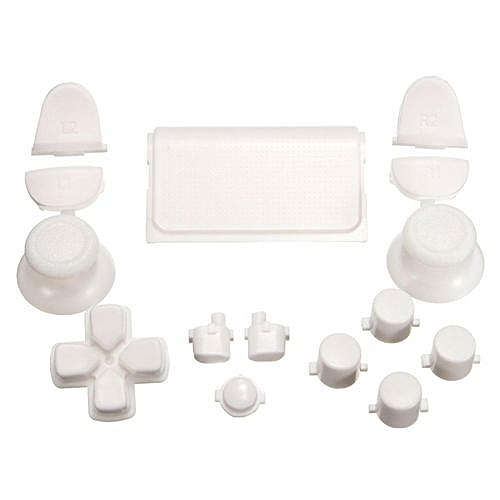 Replacement Full Buttons Custom Mod Kit For Sony Playstation PS4 Controller  Set White
