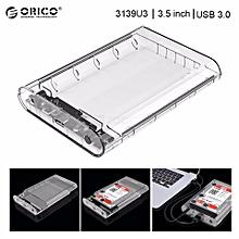 ORICO 3.5'' Transparent Clear HDD Enclosure Case USB 3.0 SATA3.0 Support UASP 8TB Drives Designed for Notobook Desktop PC  PDmall