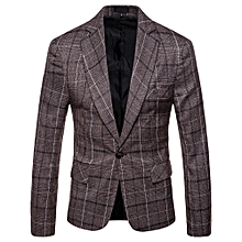 Plaid Fashion Blazers Suit Coats for Men
