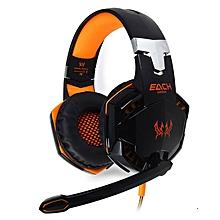 G2000 - Headset Headphone Stereo Gaming Hidden Mic - Orange+Black