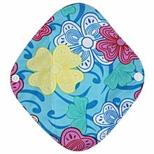 Reusable Bamboo Cloth Washable Menstrual Pad Mama Sanitary Towel Pad Sky Blue L