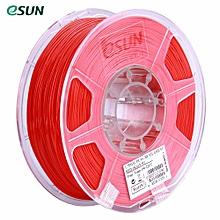 eSUN PLA+ 1.75mm Red 3D Printer Filament Corn Grain Refining Material 1KG Spool (2.2lbs) Dimensional Accuracy +/- 0.05mm Consumables