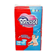 Baby Disposable Diapers, Size M (50 pieces) 6-11kgs