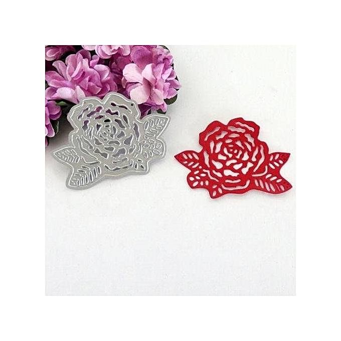 Buy universal rose flower cutting dies stencil for scrapbooking rose flower cutting dies stencil for scrapbooking embossing album cards paper mightylinksfo