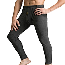 Mens Thick Warm Pure Color U Convex Thermal Long Johns Sleepwear