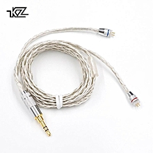 KZ ZST ZS10 AS10 ES3 ES4 ZSR Headphone Upgrade Wire Braided Silver Plated Wire Earphone Cable 0.75mm Pin DIY Detachable Audio Cord   XXZ-Z