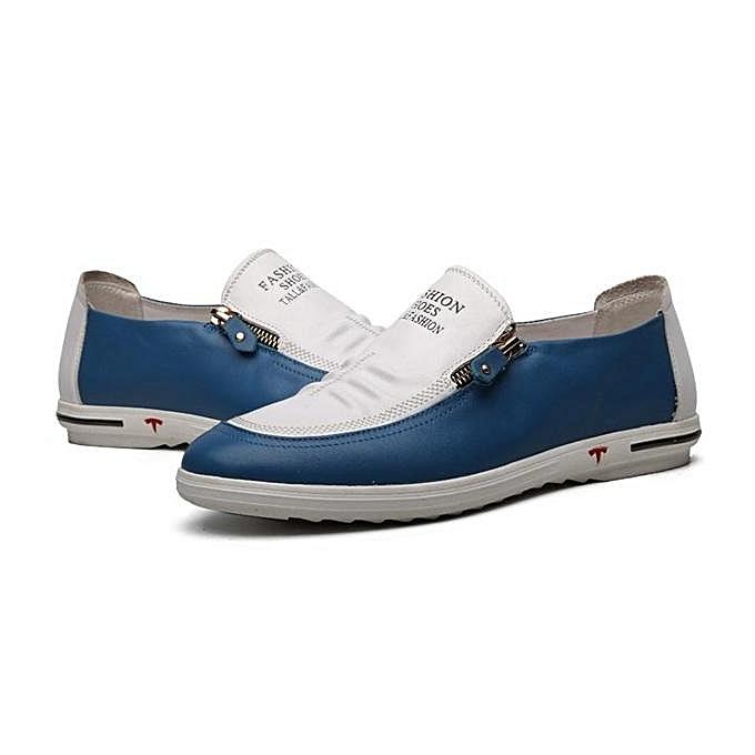 Fashion Fashion Men Side Zipper Soft Low Top Slip On Casual Shoes ... 4506e51ff9e