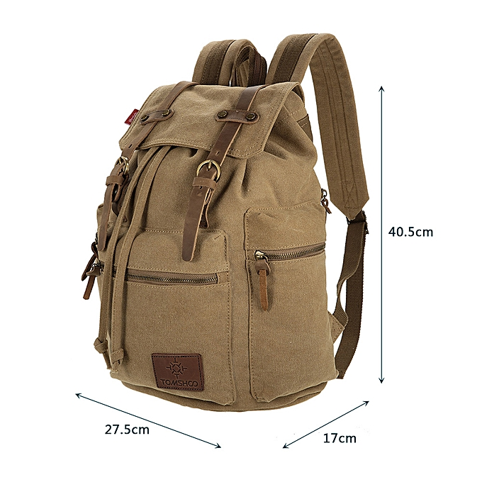 29deb1b0a Generic TOMSHOO Multifunction Canvas Backpack Vintage Shoulder Bag Travel  Bag Outdoor Leisure Rucksack Men's Laptop Backpack