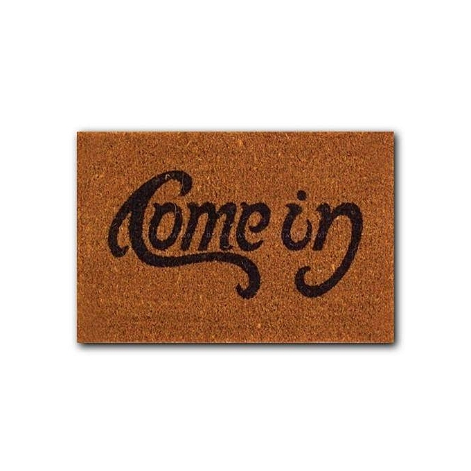 Welcome Go Away Doormat Funny Indoor Outdoor Rubber Floor Mat Non Slip Cushion