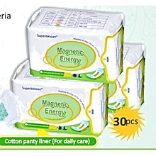 LONGRICH Pantyliner with Magnetic Energy, Anion, Far Infrared (30pcs per pack) Set of 3packs