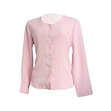 Official light purple long sleeved chiffon top