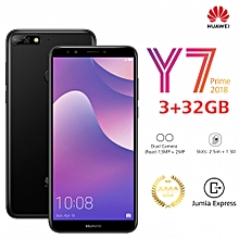"Y7 Prime (2018) 5.99"" - 3GB Ram - 32GB Rom - Camera 13 MP - (Dual Sim) -Black"